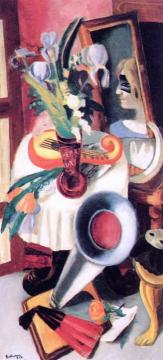 Still Life With Gramophone And Irises Artwork by Max Beckmann