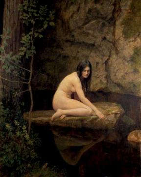 A Water Nymph Artwork by John Maler Collier