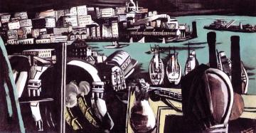 The Harbor Of Genoa Artwork by Max Beckmann