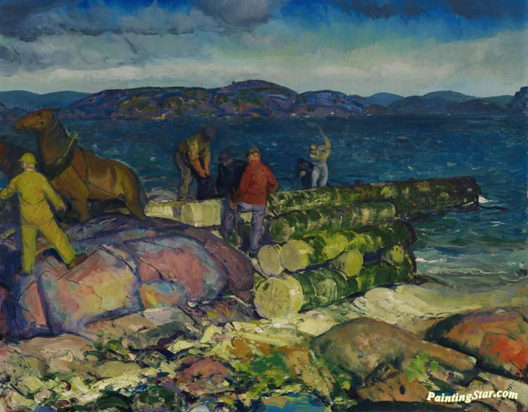 Dock Builders Artwork by George Wesley Bellows