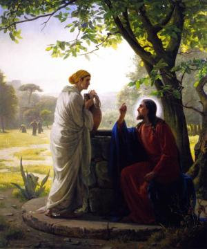 Jesus and the Samaritan Woman Artwork by Carl Heinrich Bloch