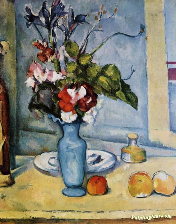 The Blue Vase Artwork By Paul Cezanne Oil Painting Art Prints On