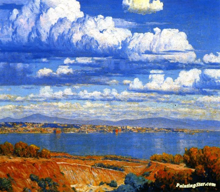 Bay And City Of San Diego Artwork by Maurice Braun Oil Painting ...