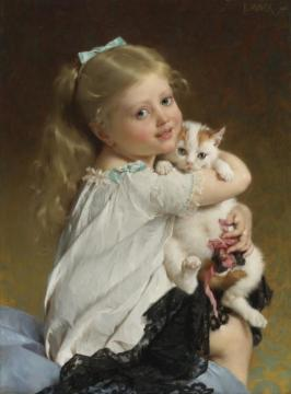 Her Best Friend Artwork by Emile Munier