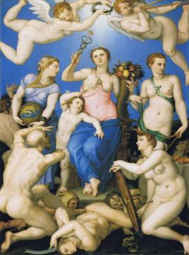 Allegory of Happiness Artwork by Agnolo Bronzino