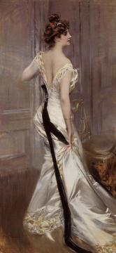 The Black Sash Artwork by Giovanni Boldini