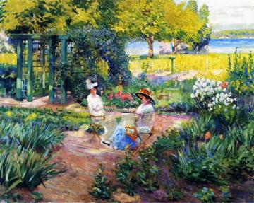 In The Garden Artwork by Alson Skinner Clark