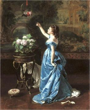 Exotic Companion Artwork by Auguste Toulmouche