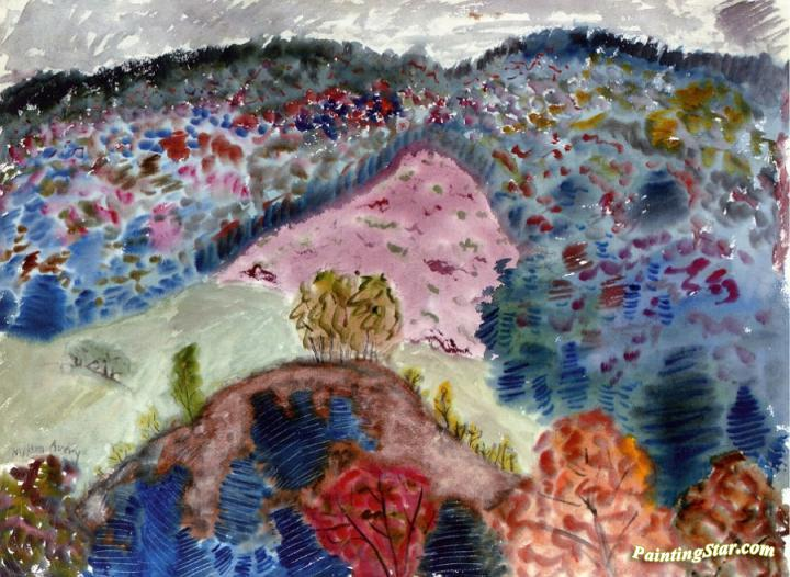 Dappled Hill Artwork by Milton Avery