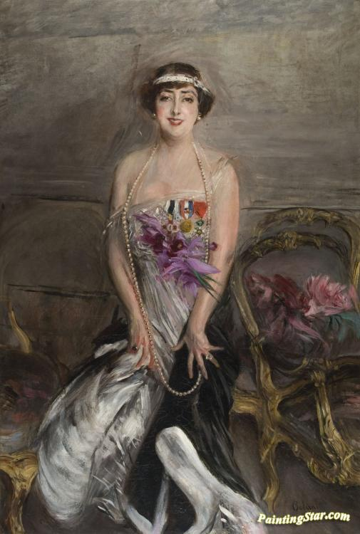 Madame Michelham Artwork by Giovanni Boldini
