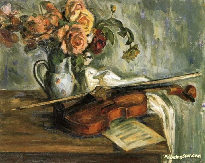 Still life violin artwork by louis ritman