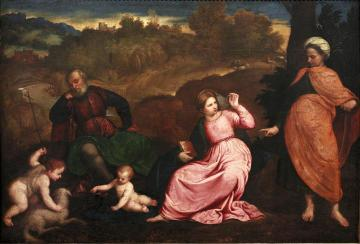 Rest during the Flight to Egypt Artwork by Paris Bordone