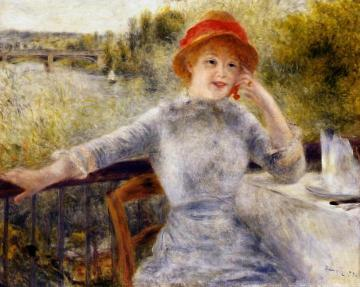 Alphonsine Fournaise on the Isle of Chatou Artwork by Pierre Auguste Renoir