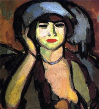 Blue Beads, Paris Artwork by John Duncan Fergusson