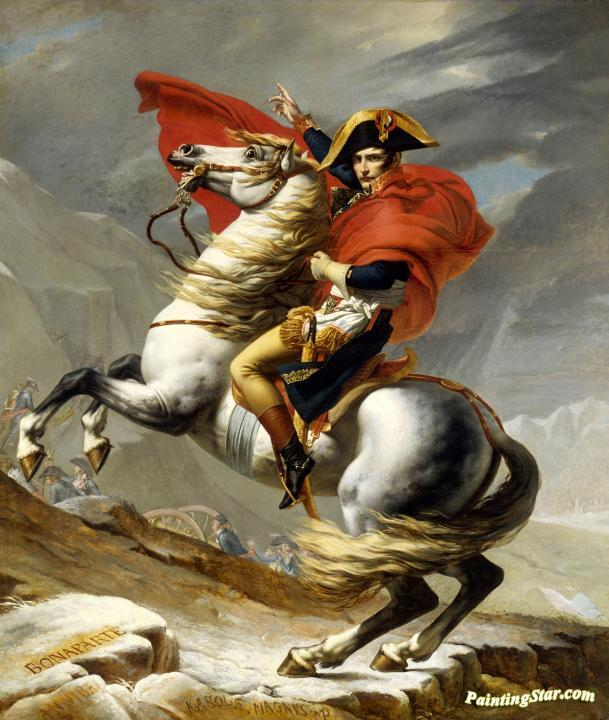 Napoleon Crossing The Alps (versailles 1) Artwork by Jacques Louis David