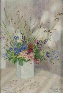 Bouquet of Flowers Artwork by Fanny Brate