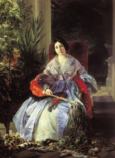 Portrait of Princess Ye. P. Saltykova Artwork by Karl Pavlovich Bryullov
