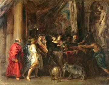 Sacrifice in a Temple Artwork by Peter Paul Rubens