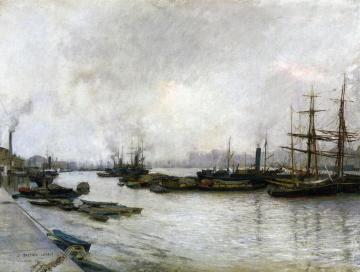 Thames, London Artwork by Jules Bastien-Lepage