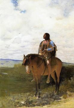 The Sioux Brave Artwork by George de Forest Brush