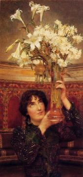 A Flag of Truce Artwork by Sir Lawrence Alma-Tadema