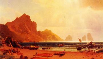 The Marina Piccola, Capri Artwork by Albert Bierstadt
