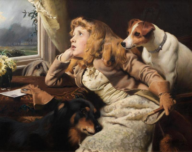 No ride today Artwork by Charles Burton Barber