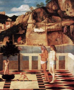 Sacred Allegory (detail) Artwork by Giovanni Bellini