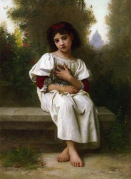 In The Garden Artwork by Elizabeth Jane Gardner Bouguereau