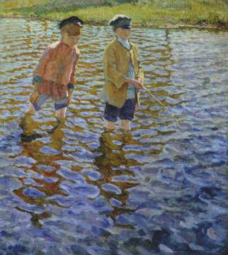 Boys Artwork by Nikolai Petrovich Bogdanov-belsky