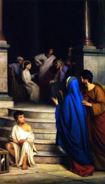 The Twelve-Year-Old Jesus in the Temple Artwork by Carl Heinrich Bloch