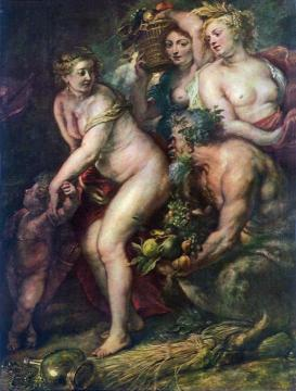 Sine Cerere et Baccho friget Venus Artwork by Peter Paul Rubens