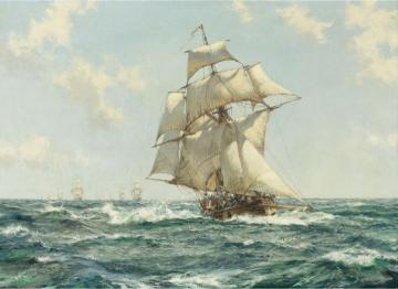 The Fleet Messenger Artwork by Montague Dawson