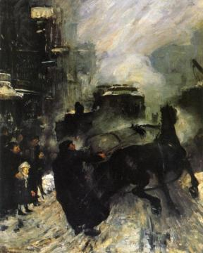 Steeming Streets Artwork by George Wesley Bellows