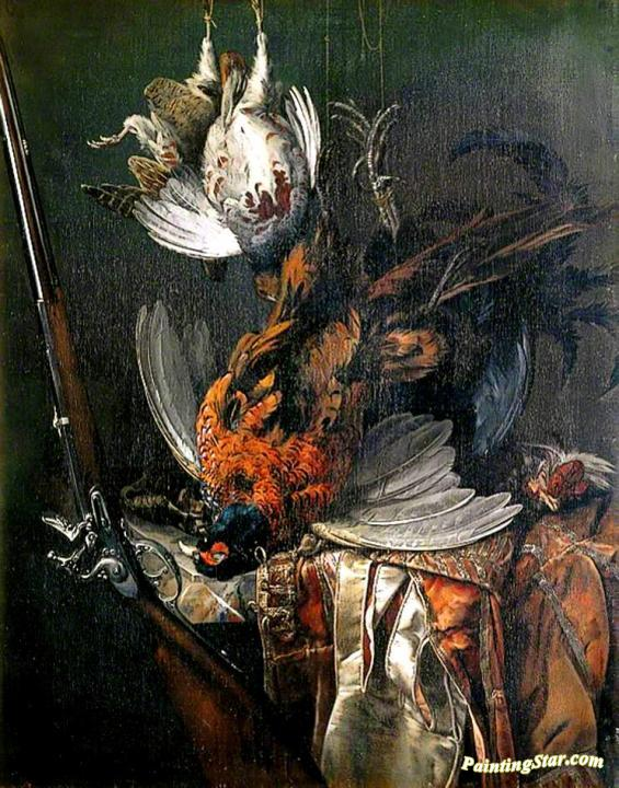Still Life with Dead Game, Art Painting by Willem van Aelst