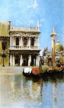 The Libreria, Venice Artwork by Robert Frederick Blum