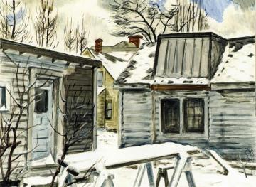 The Artist's Studio Artwork by Charles Burchfield