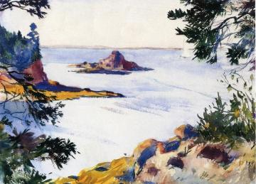 Pulpit Rock, North Haven, Maine Artwork by Frank W. Benson