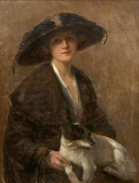 Love me, love my dog Artwork by John Maler Collier