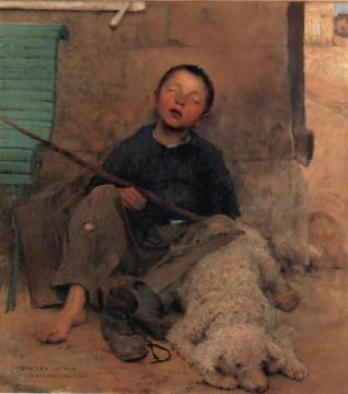 The Blind Beggar Artwork by Jules Bastien-Lepage