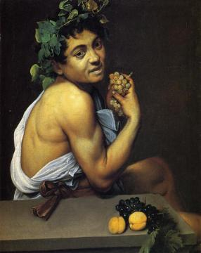 Self Portrait as Bacchus Artwork by Caravaggio