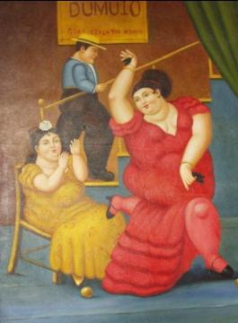 Flamenco Dancer Artwork by Fernando Botero