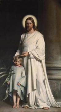 Christ Blessing the Little Child Artwork by Carl Heinrich Bloch