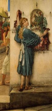 A Street Altar Artwork by Sir Lawrence Alma-Tadema