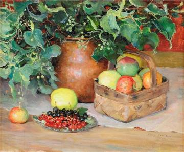 Still Life With Fruit Artwork by Fanny Brate