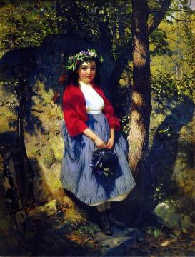 The Little Queen of the Woods Artwork by John George Brown