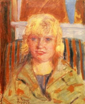 Portrait Of Mademoiselle Renee Monchaty Artwork by Pierre Bonnard