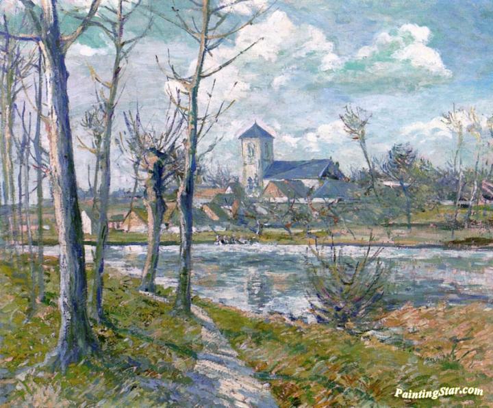 Picard Landscape, Art Painting by Albert Gleizes