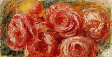 Red Roses Artwork by Pierre Auguste Renoir
