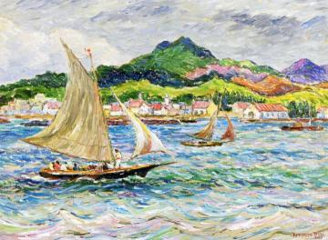 Sailing in the Caribbean Artwork by Reynolds Beal